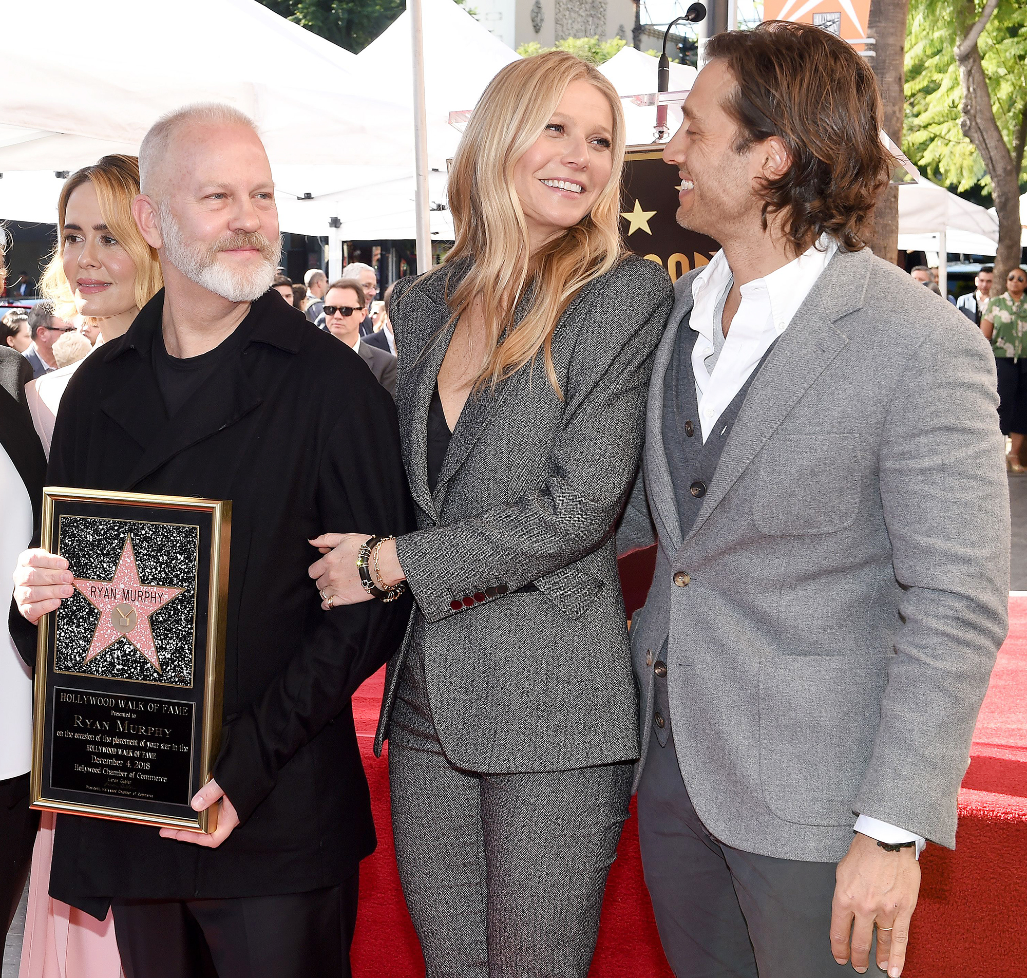 Gwyneth Paltrow Brad Falchuk Praise Ryan Murphy For Introducing Them - Ryan Murphy honored with star on the Hollywood Walk of Fame. Hollywood, California.