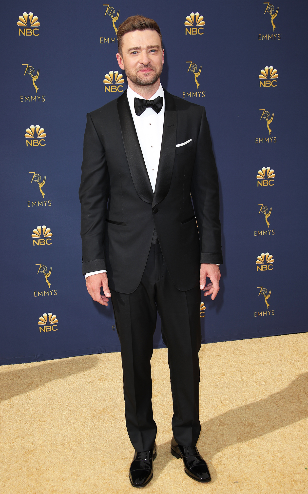 Hottest Guys in Suits - 2018 Edition - Supporting wife Jessica Biel who was nominated for her role in The Sinner at the Emmys, the singer was bringing sexy back in a Tom Ford suit.