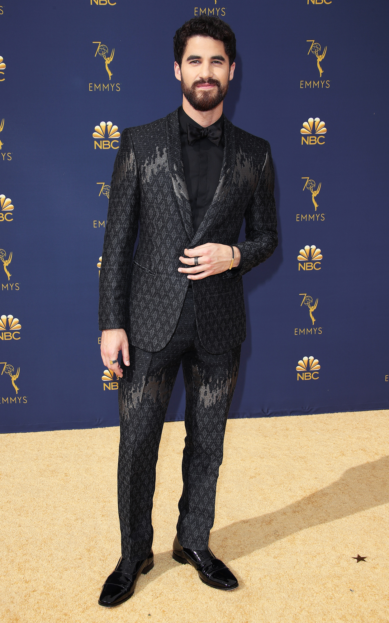 Hottest Guys in Suits - 2018 Edition - Taking home an Emmy for his role in the Assassination of Gianni Versace , the actor shimmered in Giorgio Armani at the event.