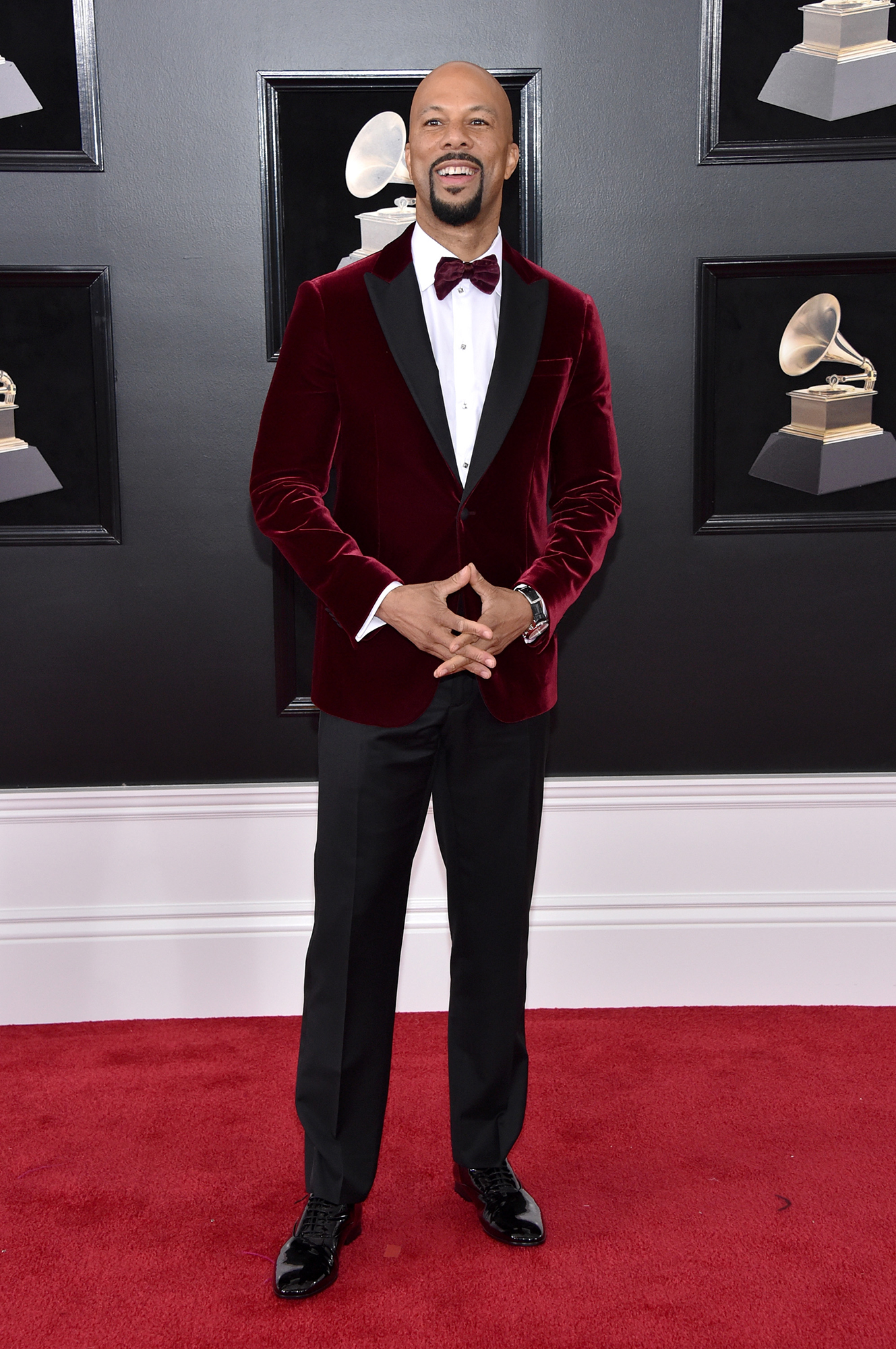 Hottest Guys in Suits - 2018 Edition - When in doubt, wear velvet, as the rapper proved at the Grammys in his merlot Giorgio Armani made-to-measure tux.