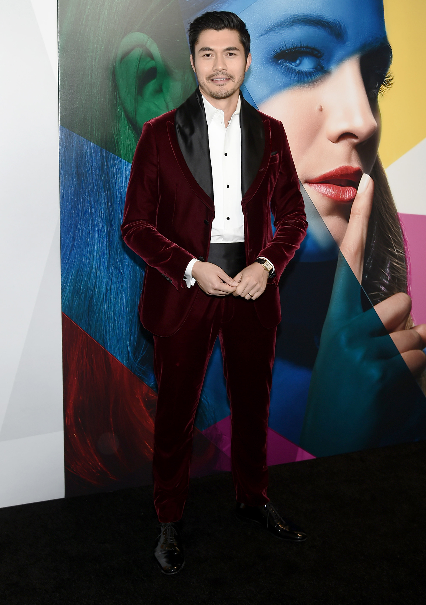 Hottest Guys in Suits - 2018 Edition - The breakout heartthrob of 2018 ( Crazy Rich Asian's Nick Young, anyone?) proved to be a bonafide style star in a black-accented burgundy velvet tux at the A Simple Favor premiere in NYC.