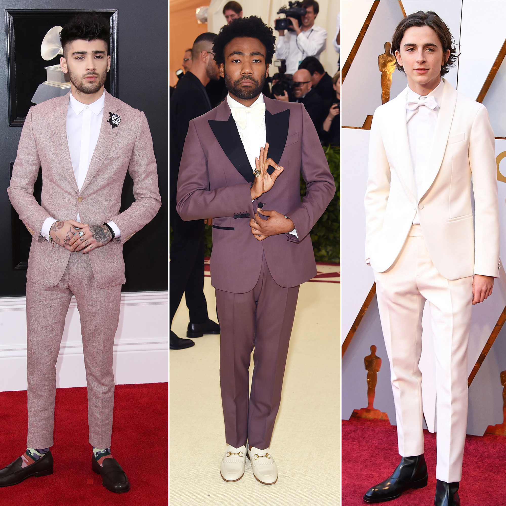 Hottest Guys in Suits - 2018 Edition - Zayn Malik, Donald Glover and Timothee Chalamet.