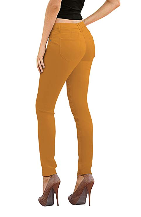 Hybrid & Co Women's Butt Lift Super Comfy Stretch Denim Skinny Yoga Jeans