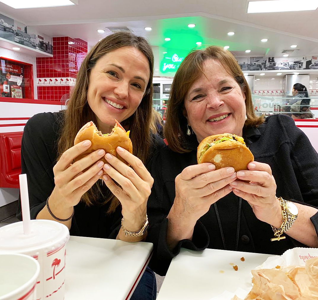 Ina Garten Eats In-N-Out With Jennifer Garner After Finishing Book Tour: 'Only the Best for My Friend'