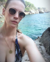 January Jones bikini