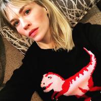 January Jones dino sweater