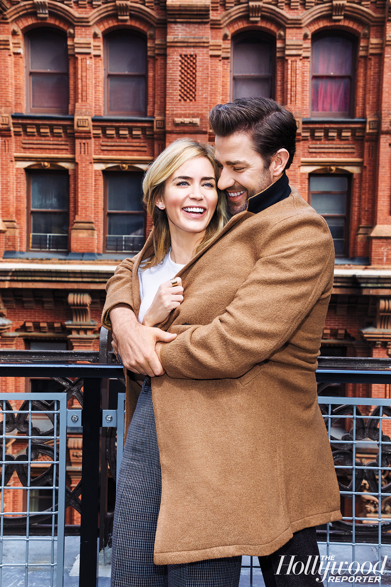 """John Krasinski Emily Blunt First Date Hollywood Reporter Rulebreakers - """"Neither of them has a jealous bone in their body,"""" Blunt's Mary Poppins director Rob Marshall dished. """"People think marriage is looking deep into each other's eyes. No, it's looking out and seeing the same life. Emily and John see the same life."""""""