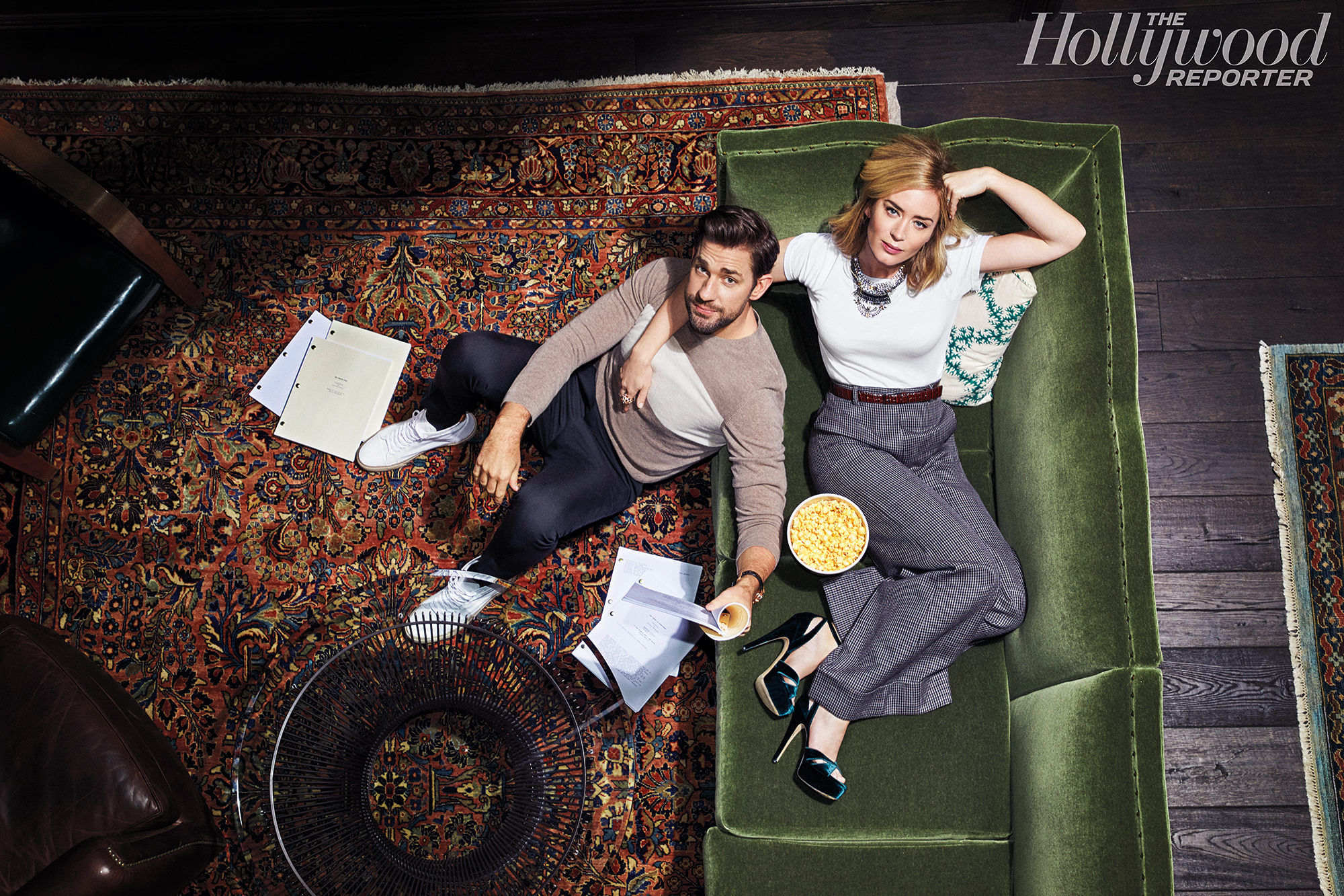 """John Krasinski Emily Blunt First Date Hollywood Reporter Rulebreakers - """"I didn't want it to be like, 'Oh, how adorable. They're working together,'"""" Blunt recalled of agreeing to work with her spouse on the critically acclaimed thriller. """"It was the only idea that had come our way that seemed bigger than our marriage. The narrative of our marriage was not going to overwhelm this movie and this amazing opportunity for him as a director, as a filmmaker, as a writer. I knew this was a big swing for him."""""""