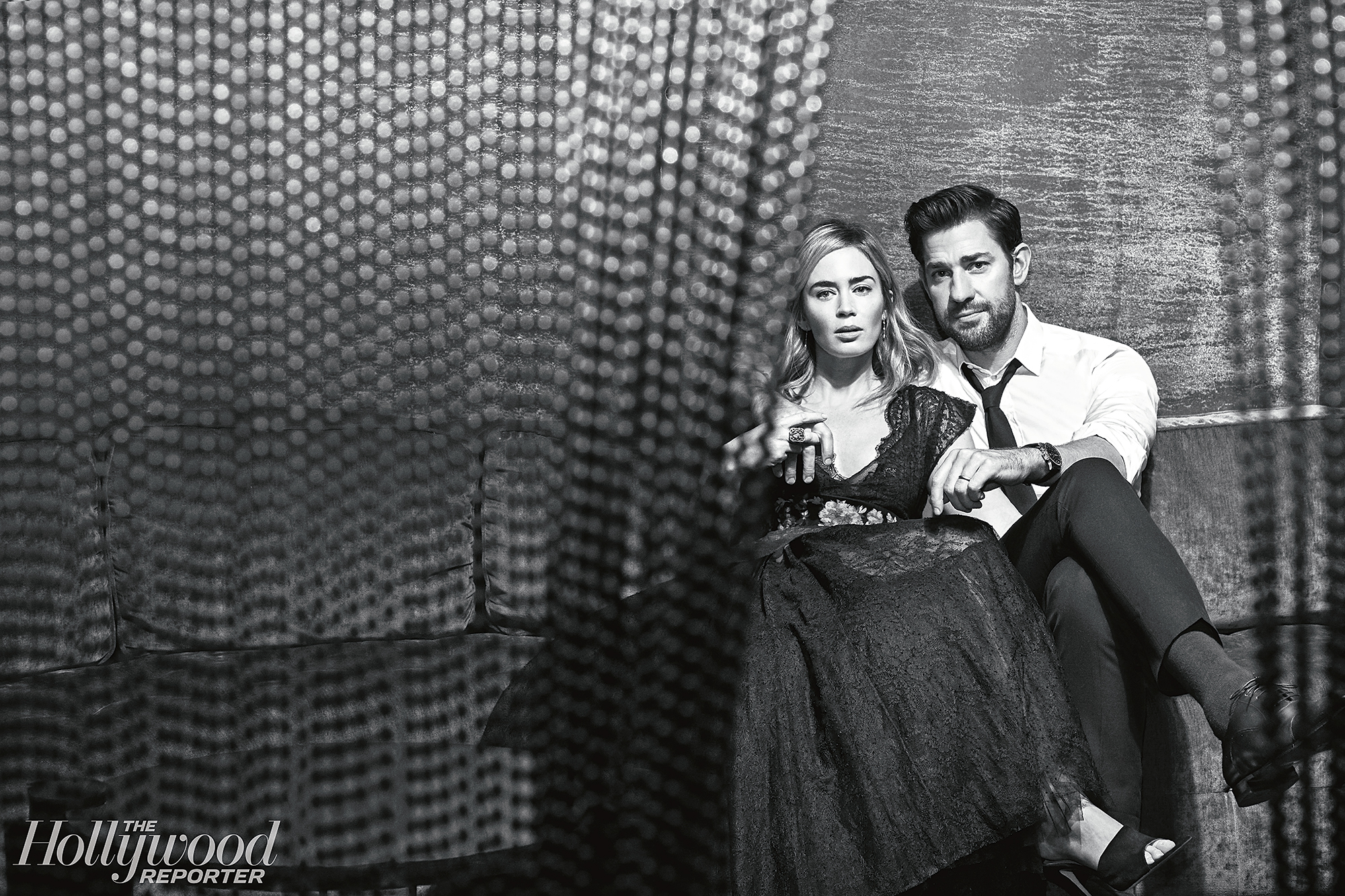 """John Krasinski Emily Blunt First Date Hollywood Reporter Rulebreakers - """"When I got there, I was so destroyed from time zones and not sleeping and all that and was so excited to see my kids, it didn't matter I had no sleep,"""" Krasinski said of traveling from Montreal where he was filming Jack Ryan to London where Blunt was staying with their children while filming Mary Poppins. """"On top of it, there was nothing from Emily but love and support."""""""
