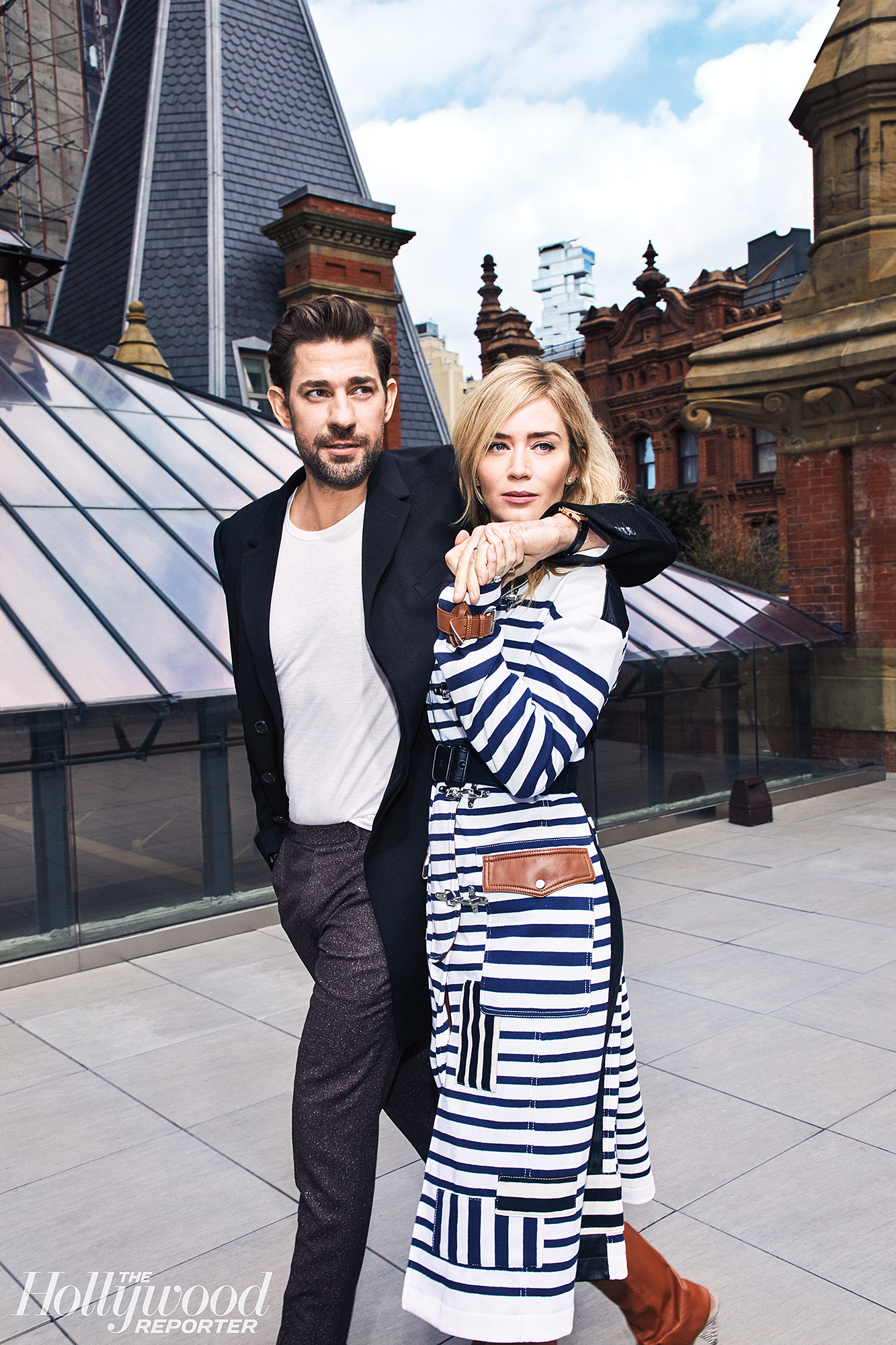 """John Krasinski Emily Blunt First Date Hollywood Reporter Rulebreakers - """"I have a minimum of a five-month rule between projects, other than A Quiet Place ,"""" Blunt said referring to the 2018 drama in which the real-life couple starred alongside each other and Krasinski directed. """"I broke the rule for him and him alone."""""""