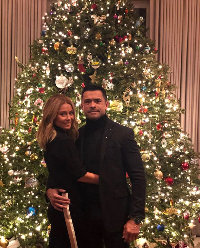 stars go all out with holiday decorations gallery - This couple is known to go all out for the festivities! The talk show host and the Riverdale actor posed sweetly in front of the huge tree that they boast in their New York City home.