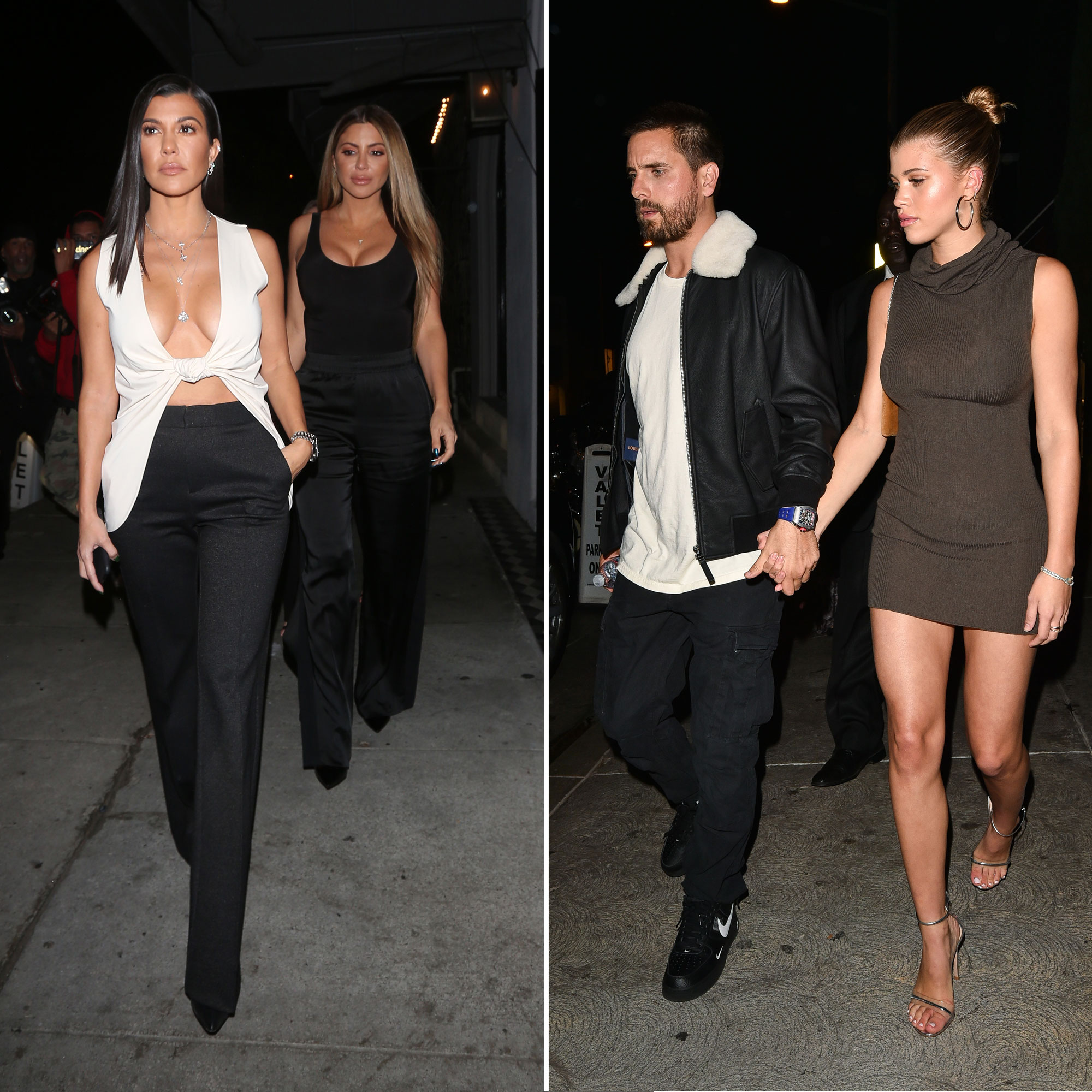 Kourtney Kardashian and Scott Disick - The exes showed they could play nice when they headed to dinner together … with Scott's paramour, Richie.