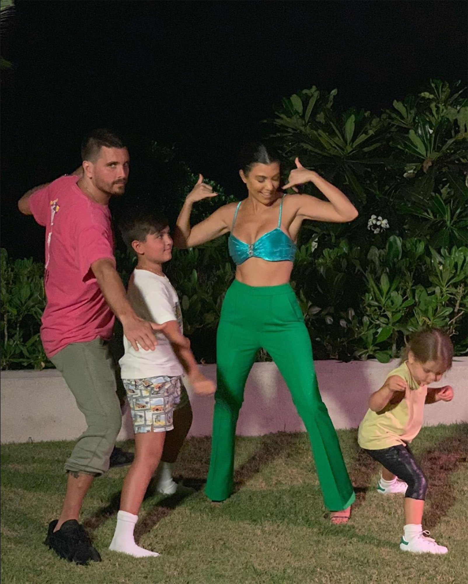 "Kourtney Kardashian and Scott Disick - The reality star shared a snap of herself with Scott, Mason and Penelope while on vacation with her family in Bali in November 2018. A source told Us at the time that she had decided to invite him so they could spend time as a family,"" adding, "" Coparenting couldn't go better ."
