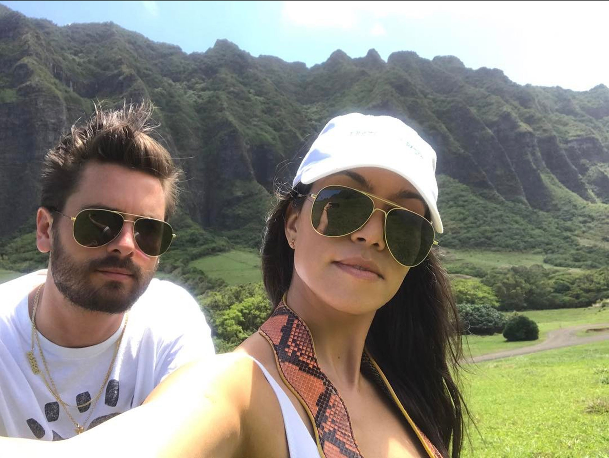 "Kourtney Kardashian and Scott Disick - Things had calmed down between the two by October 2017, when Kourtney shared a photo of herself and her former flame enjoying the great outdoors. ""MOM and DAD back at it again with the coparenting skills,"" she wrote on Instagram ."