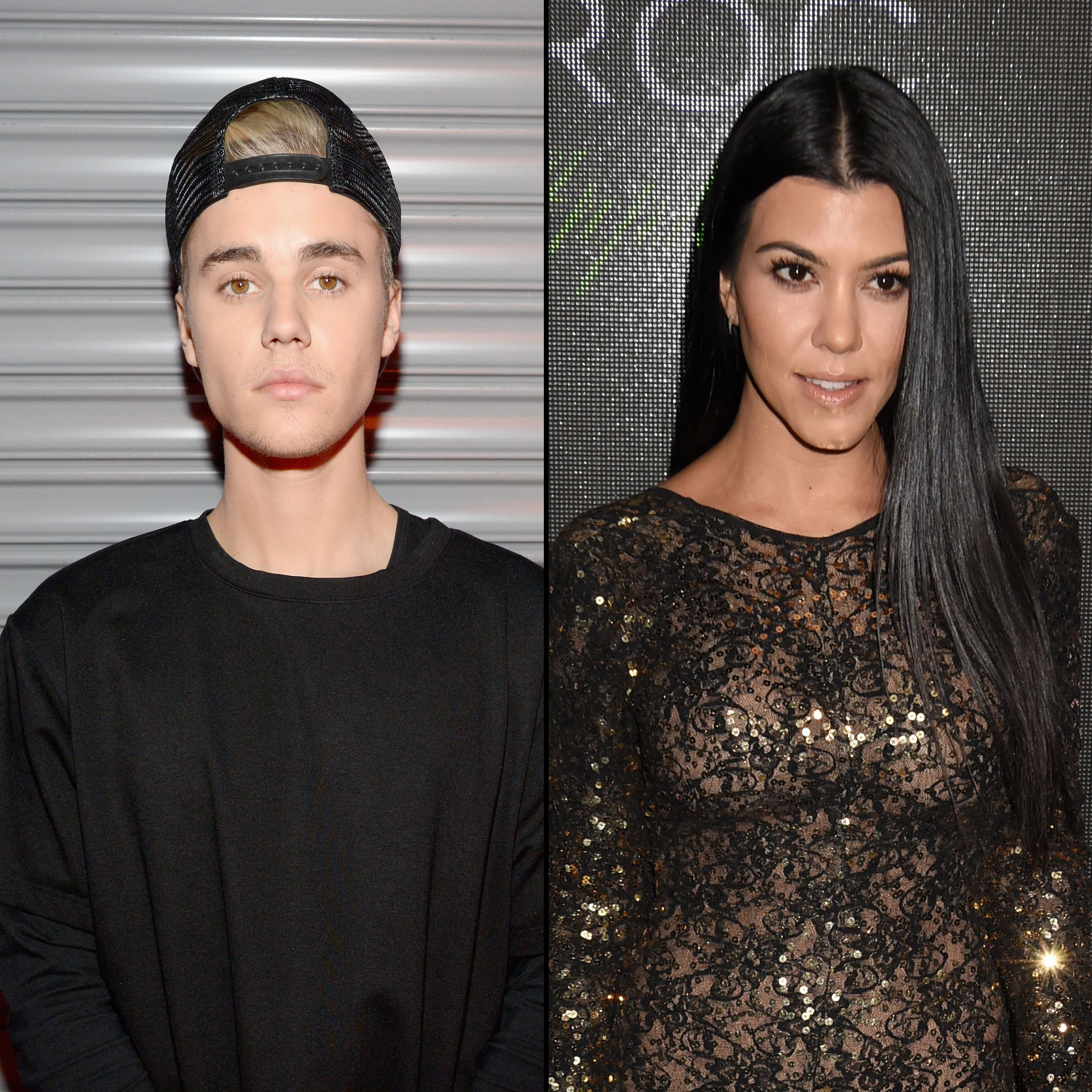 "Justin Bieber and Kourtney Kardashian - By the end 2015, Kourtney had moved on — with her sister Kendall Jenner 's pal, Justin Bieber ! ""Justin and Kourtney have been hooking up since late August, early September,"" a source tells Us in a December cover story ."