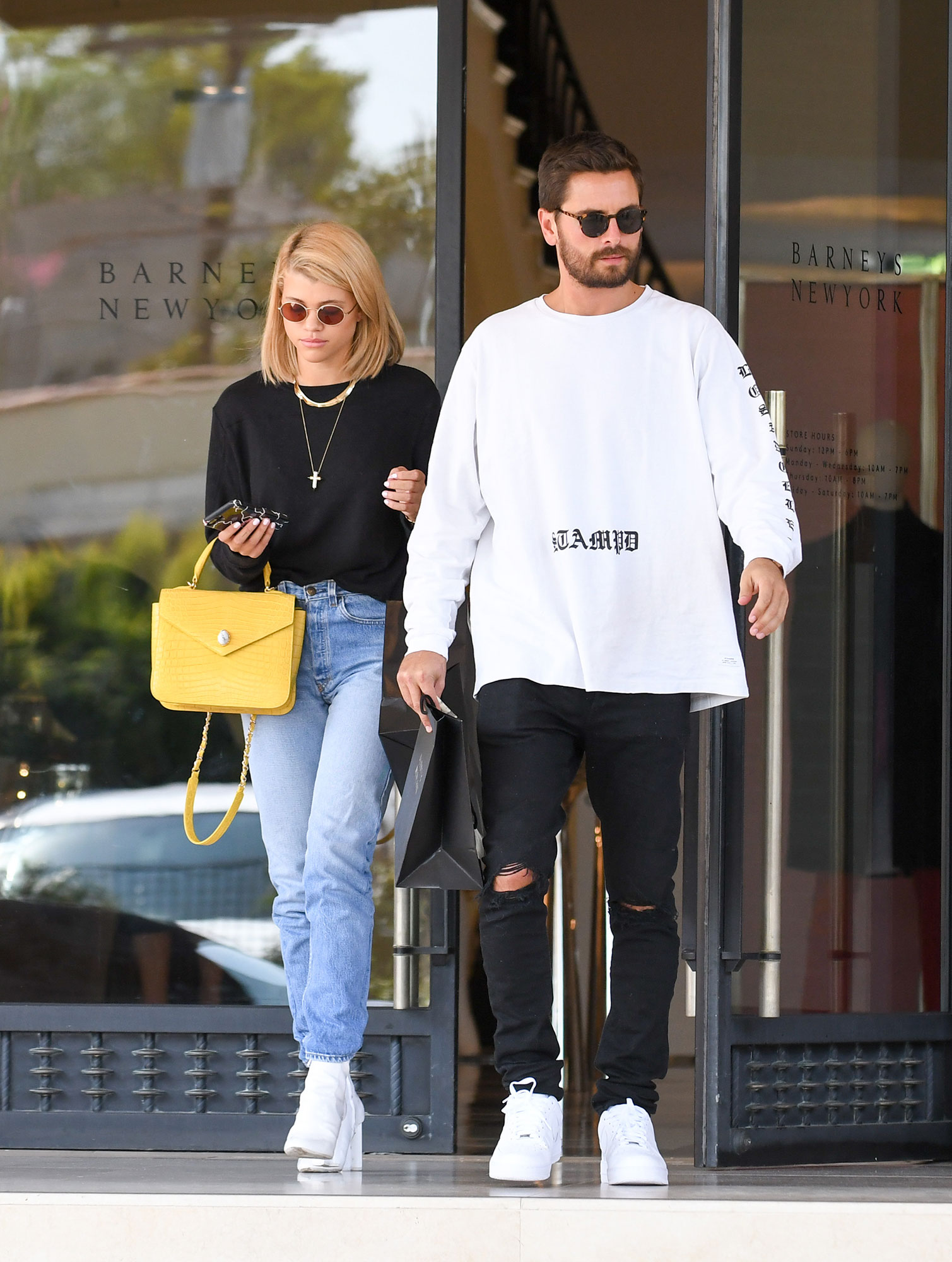"Sofia Richie and Scott Disick - In September 2017, Us revealed that Scott had a new lady in his life — now-girlfriend Richie. It didn't hurt his relationship with Kourtney, however: "" Kourtney thinks this fling with Sofia is a little weird, but nothing shocks her anymore,"" a source told Us exclusively."