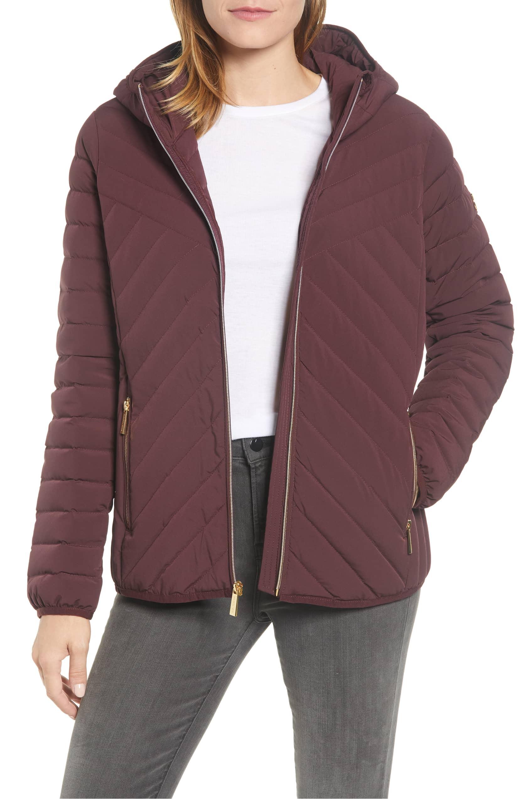 Michael Kors Missy Stretch Packable Down Coat