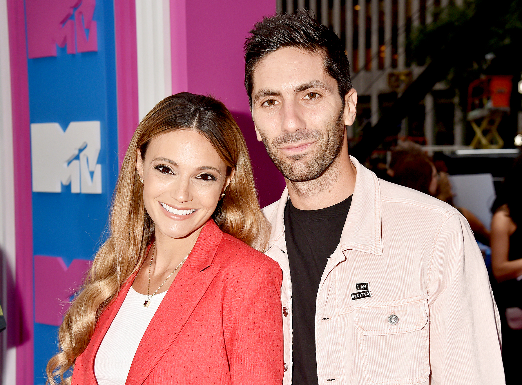Nev-Schulman-and-Laura-Perlongo - Nev Schulman and Laura Perlongo attend the 2018 MTV Video Music Awards at Radio City Music Hall on August 20, 2018 in New York City.