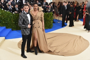 Nick Jonas Jokes 'Rule Number One' for Relationship With Priyanka Chopra Is to 'Never Step on Her Train'