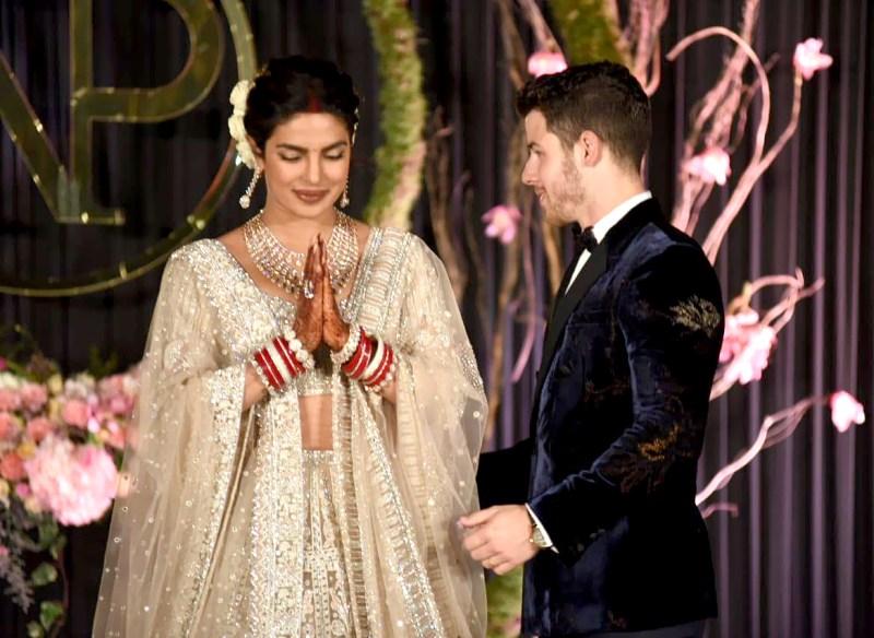 Begini foto-foto resepsi pernikahan Priyanka Chopra dan Nick Jonas (dok. US Magazine)