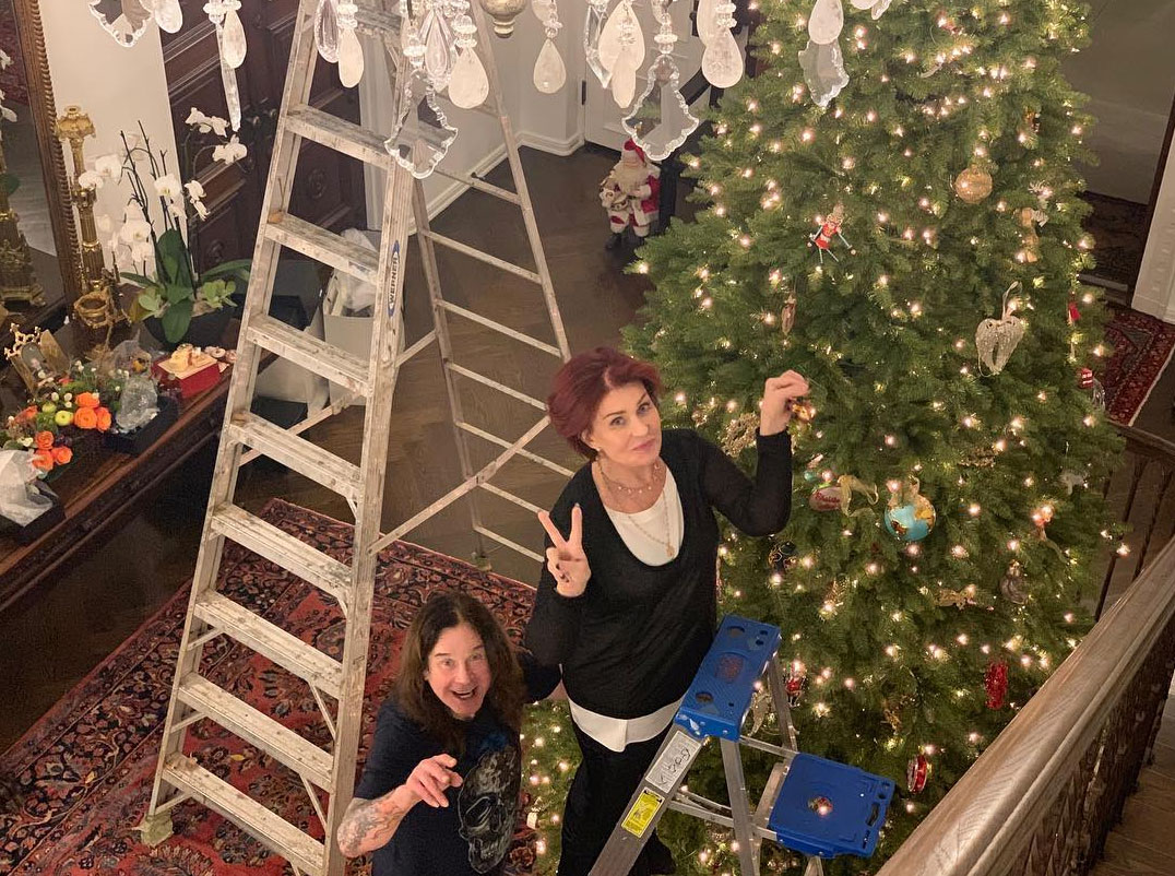 stars go all out with holiday decorations gallery - The Osbournes went all out! Sharon documented the pair decorating shortly after Thanksgiving.