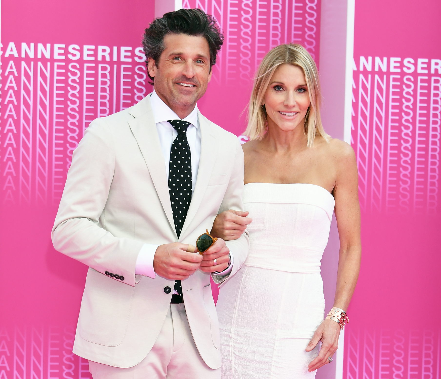 Patrick Dempsey Plugs Jillian Fink Vibrating Face Tool - Patrick Dempsey and Jillian Fink attend the Launch of the Official Competition and 'The Truth About The Harry Quebert Affair' screening during the 1st Cannes International Series Festival on April 7, 2018.