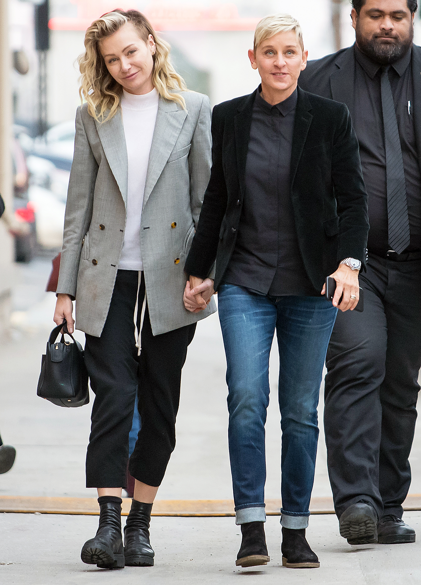 Portia de Rossi Urging Ellen DeGeneres to Leave Talk Show - Portia de Rossi and Ellen DeGeneres arrive at 'Jimmy Kimmel Live' in Los Angeles on December 10, 2018.