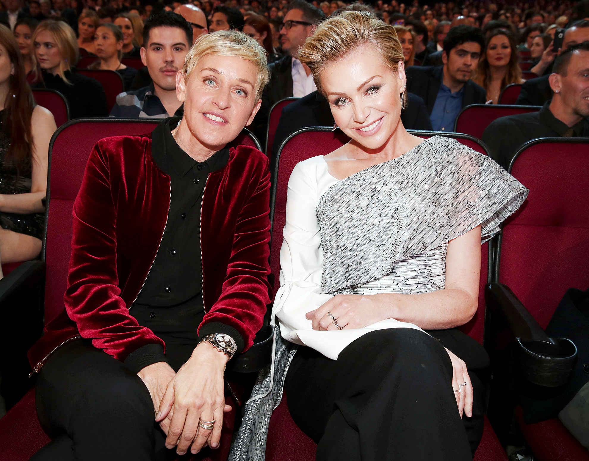 Portia de Rossi Urging Ellen DeGeneres to Leave Talk Show - Ellen DeGeneres and actrss Portia de Rossi attend the People's Choice Awards at Microsoft Theater on January 18, 2017 in Los Angeles.