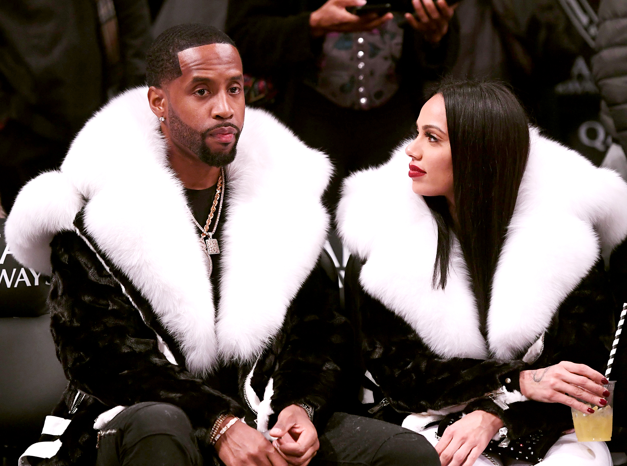 """Safaree-Samuels-and-Erica-Mena-engaged - The """"Paradise"""" rapper popped the question to his girlfriend at her house in Atlanta in a candlelit proposal on Christmas Eve with a 14-carat asscher-cut ring he designed himself. TMZ reports that the ring is valued at $175,000."""