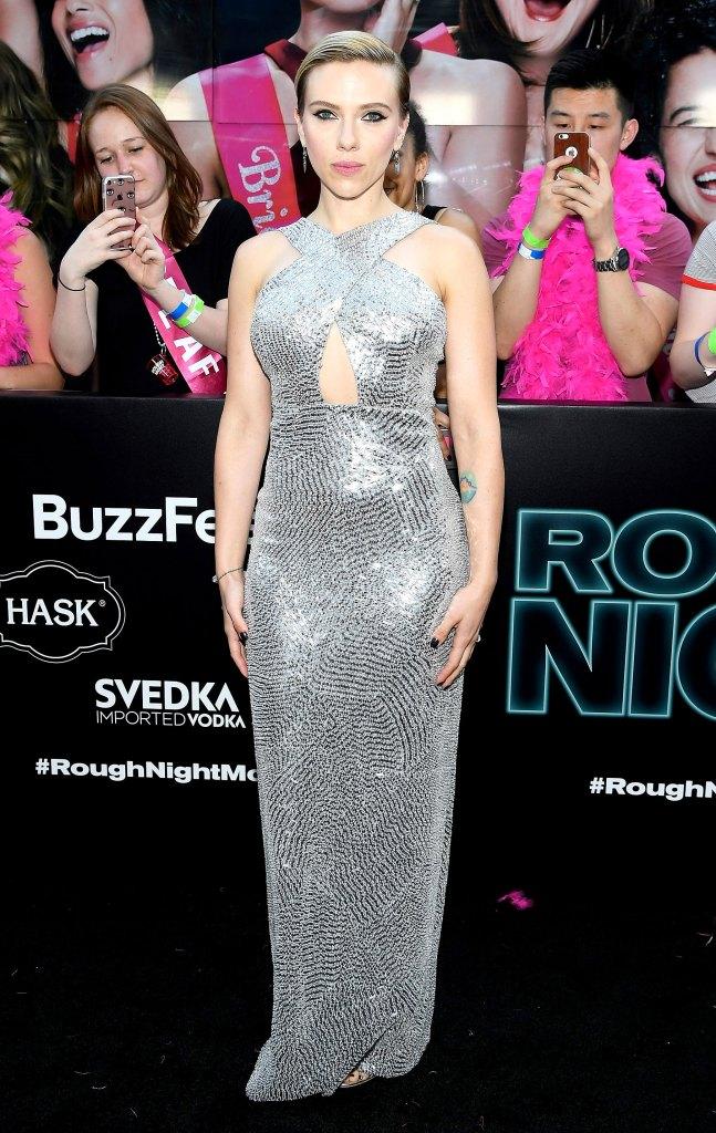 Scarlett-Johansson-silver-halter-dress