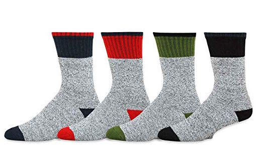 Soxnet Eco Friendly Heavy Weight Recycled Cotton Thermals Boot Socks 4 Pairs