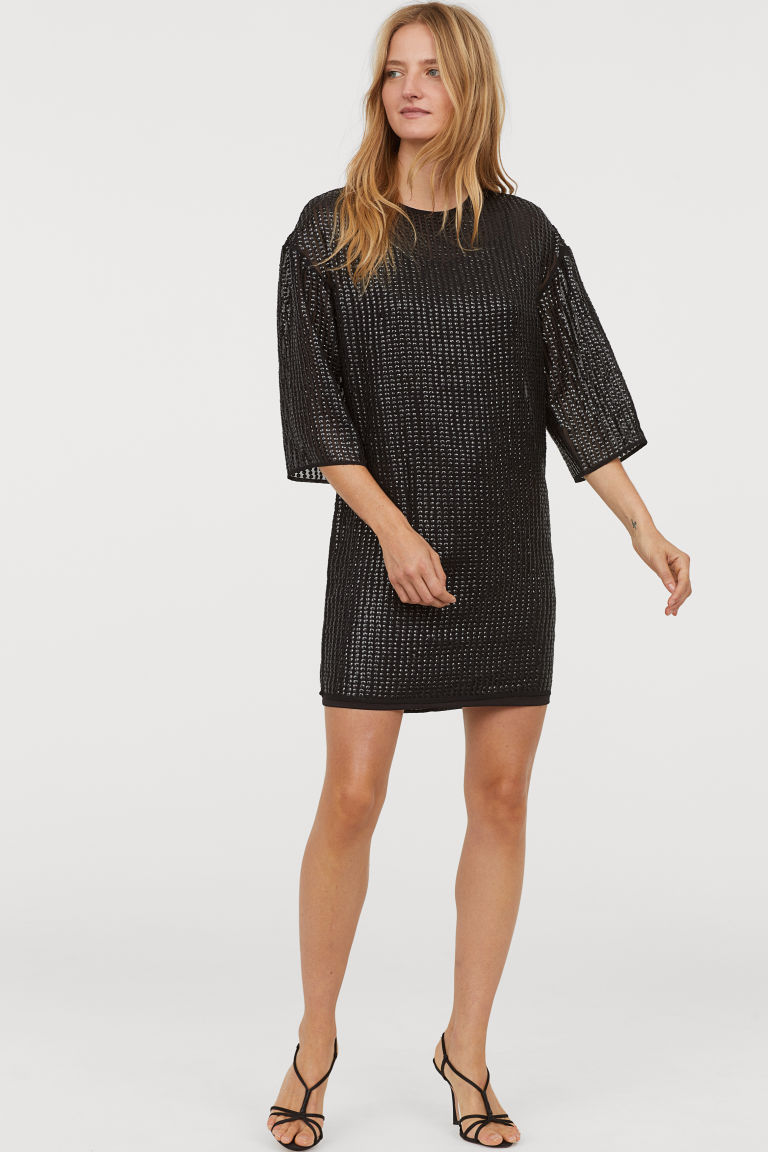 T-shirt Dress with Sequins
