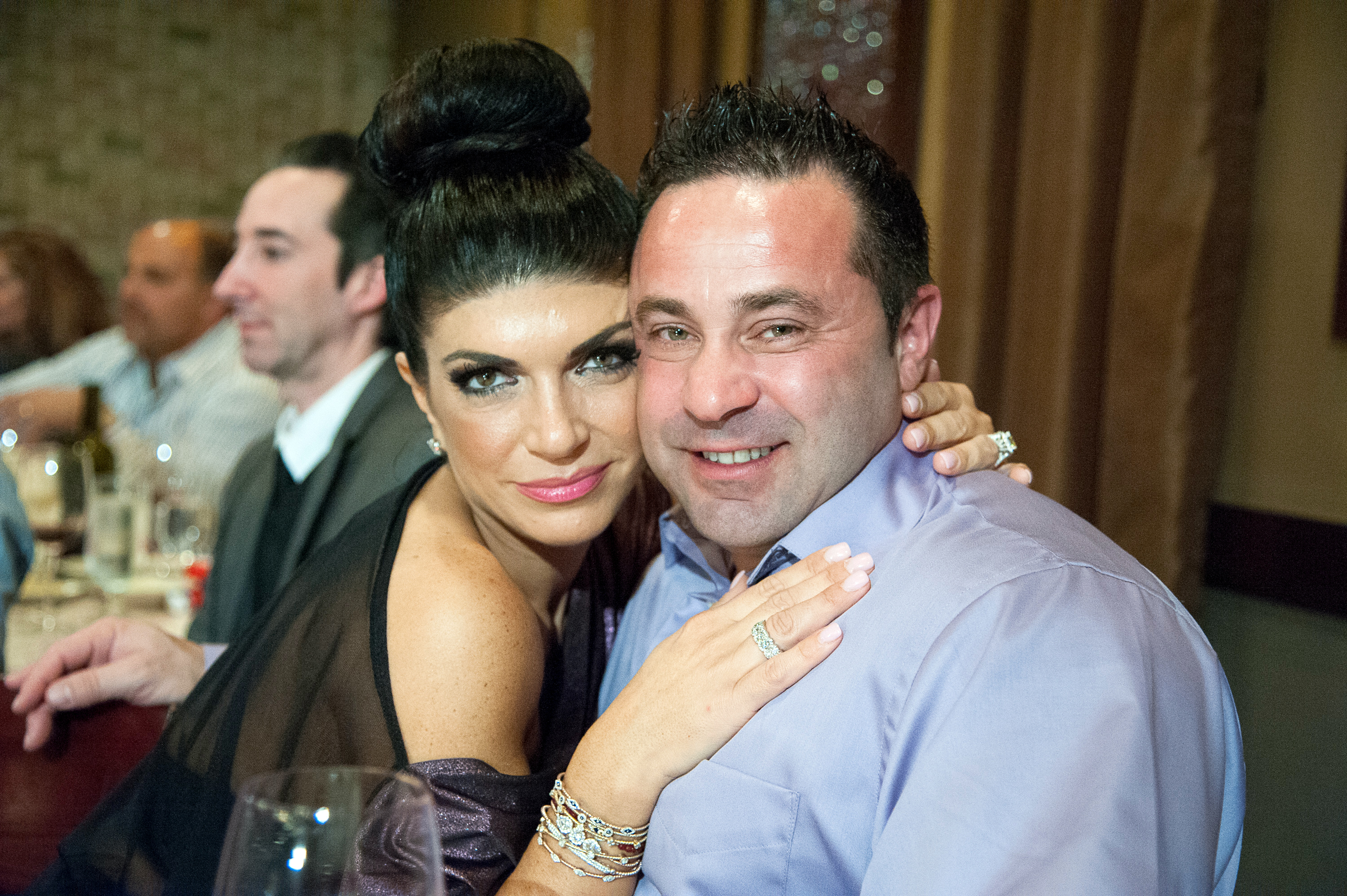Teresa Giudice Says She's Not 'All About the Holidays' Since Husband Joe Giudice Is in Jail - Teresa Giudice and Joe Giudice attend the Posche Fashion show at The Bottagra on December 3, 2012 in Hawthorne, New Jersey.