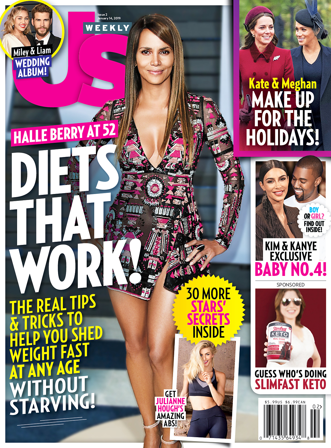 Us Weekly Cover Halle Berry Diets