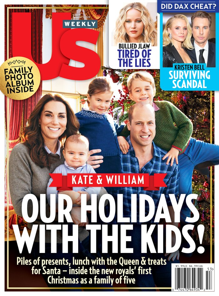 Us Weekly Cover Prince William Duchess Kate Holidays Kids