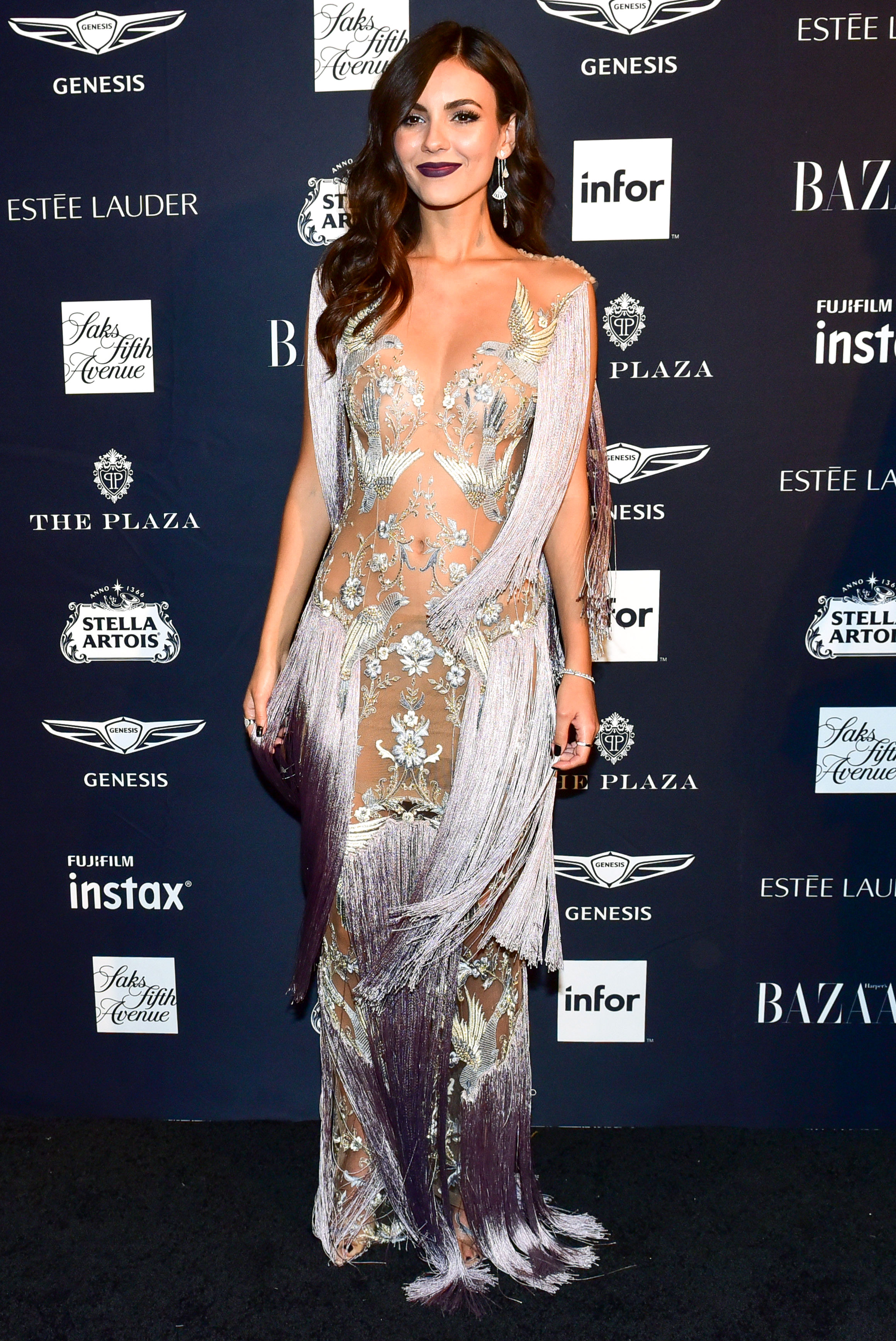 Victoria-Justice - In tulle Paolo Sebastian on Sept. 7.
