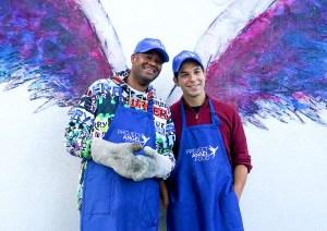 Vince Herbert and Skylar Astin