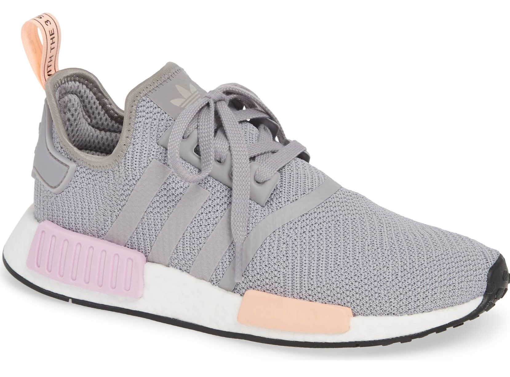 adidas sneaker grey pink and peach