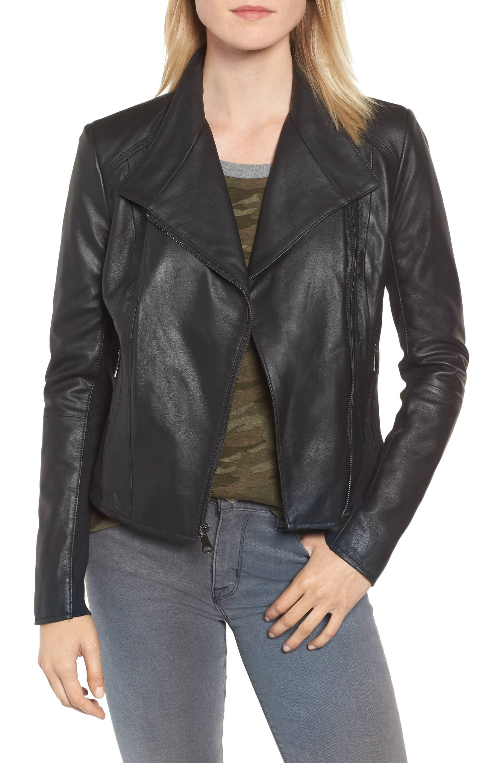 andrew mark leather moto jacket