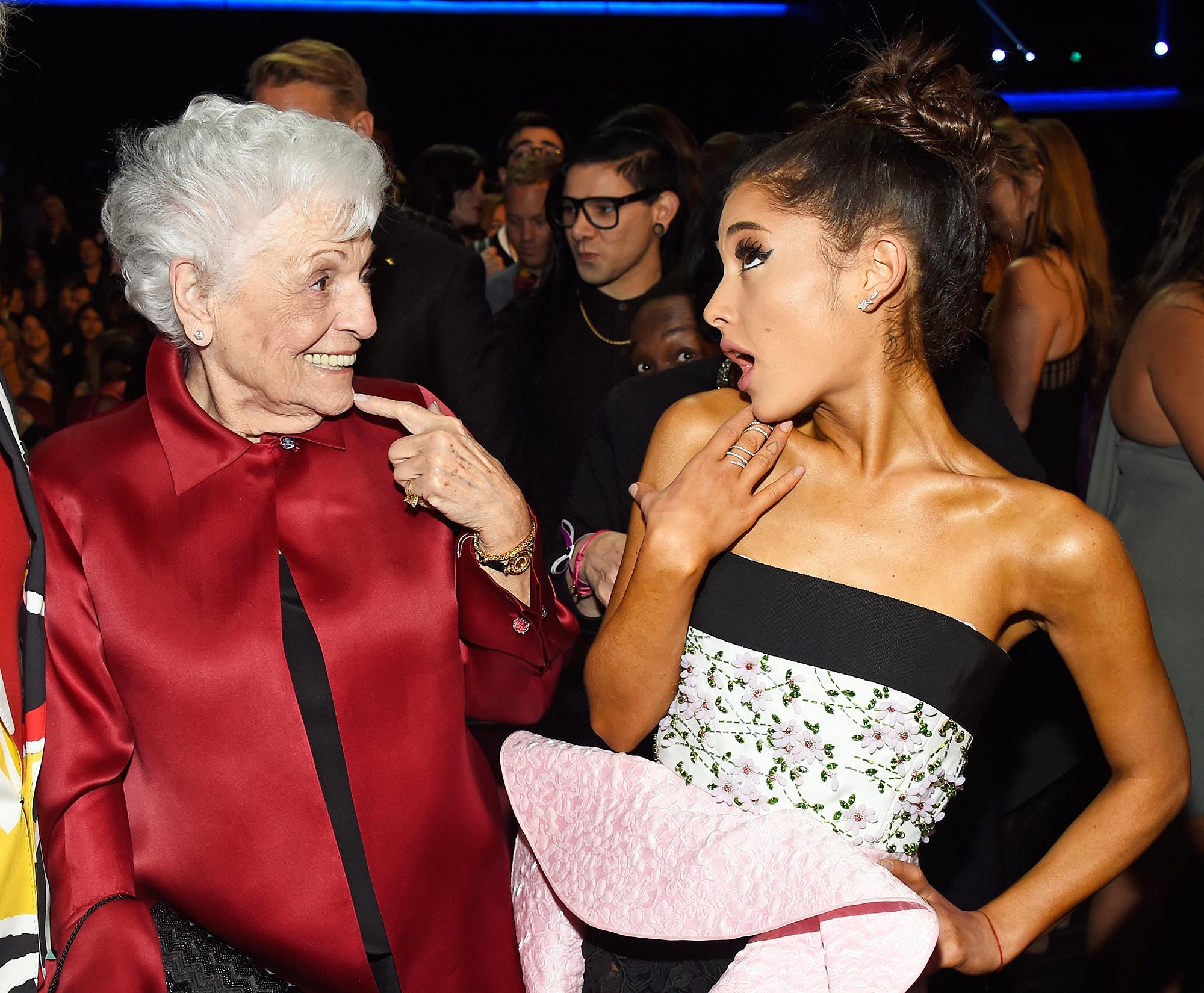 Ariana Grande Nonna Tattoos - Ariana Grande Nonna Tattoos – Marjorie 'Nonna' Grande, and recording artist Ariana Grande attend the 2015 American Music Awards at Microsoft Theater on November 22, 2015 in Los Angeles, California.