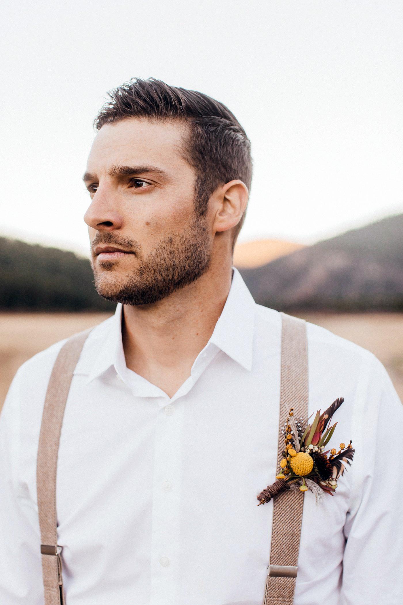 Becca Kufrin Garrett Yrigoyen Pre-Wedding Shoot - Yrigoyen looked dapper as ever in a crisp white shirt and suspenders.