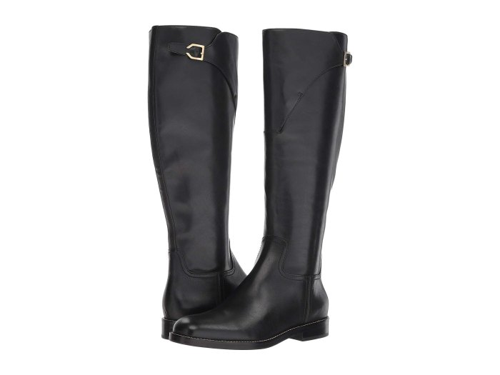 black leather boots by cole haan