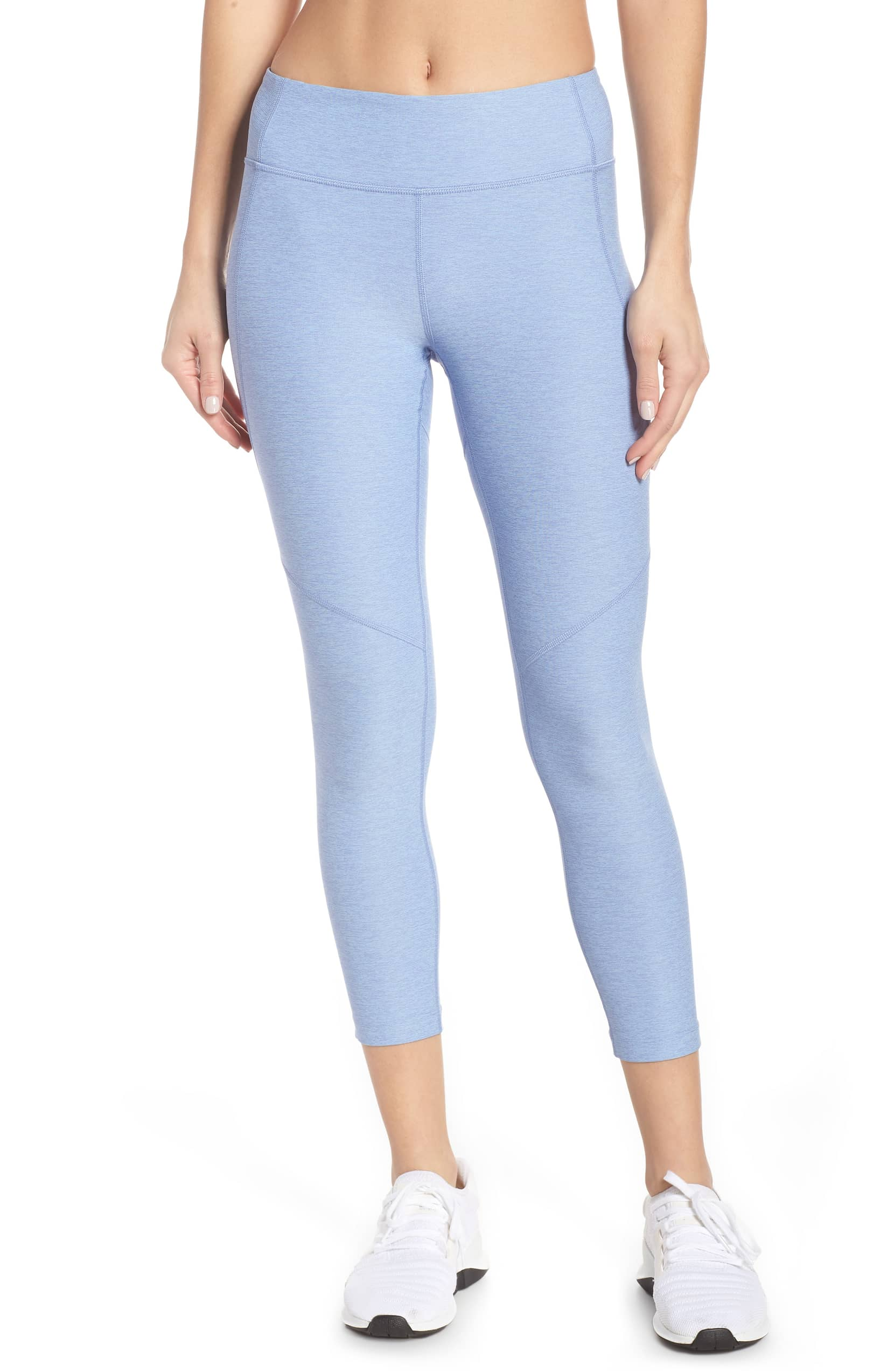 blue outdoor voices crop leggings