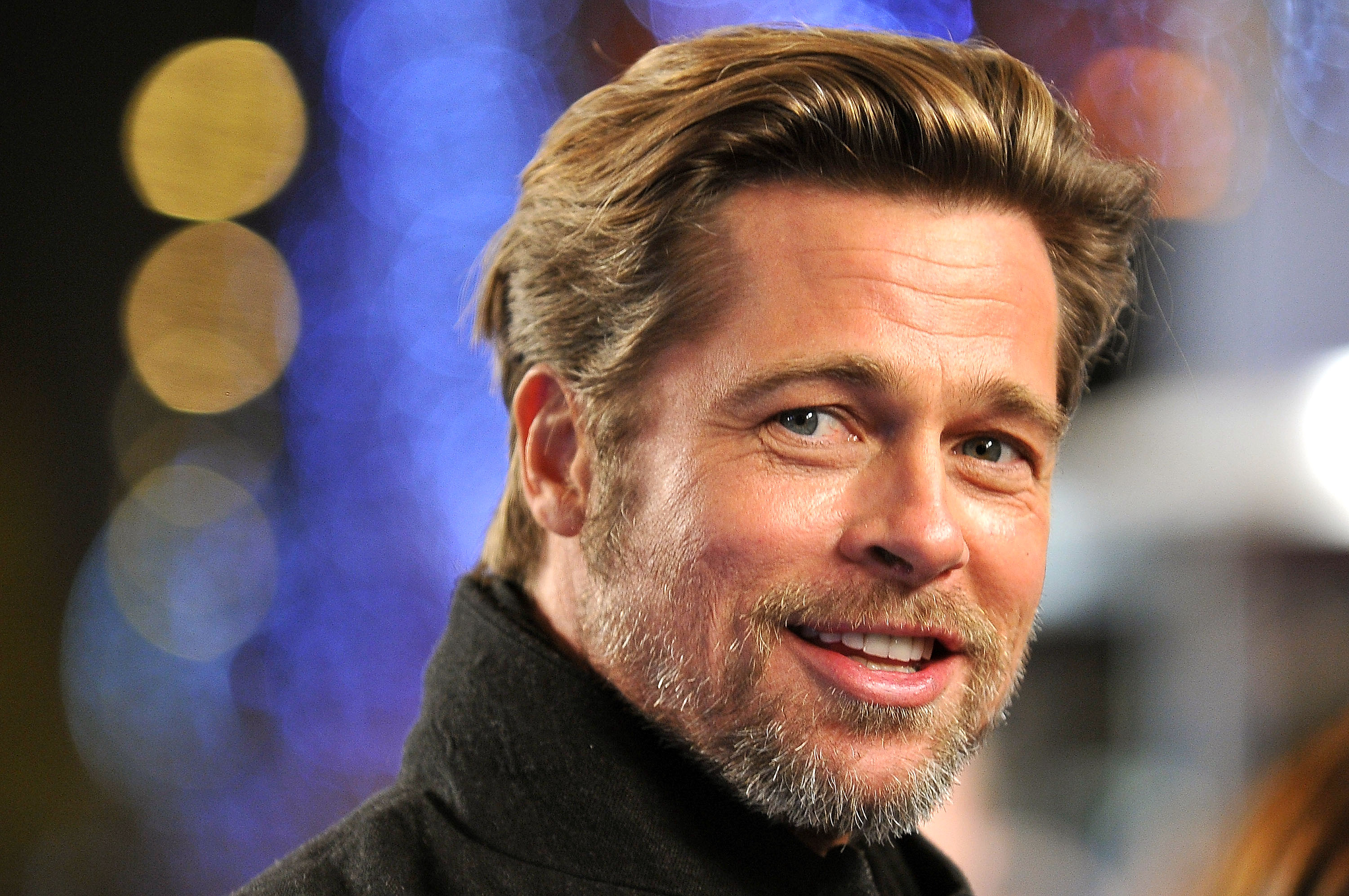 brad-pitt-hair Megamind - PARIS – NOVEMBER 29: Brad Pitt attends the 'Megamind' Paris premiere at Cinema UGC Normandie on November 29, 2010 in Paris, France. (Photo by Pascal Le Segretain/Getty Images)