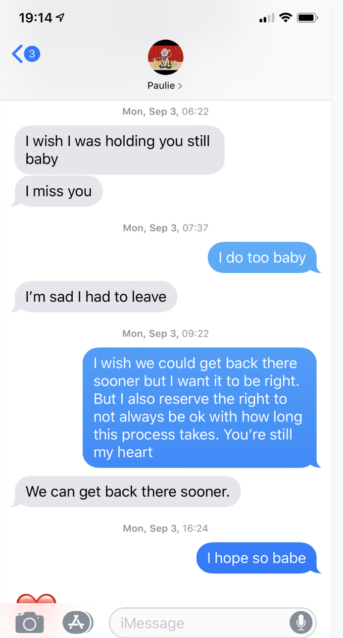 Cara Maria, Danielle Maltby Release Texts From Paulie Calafiore
