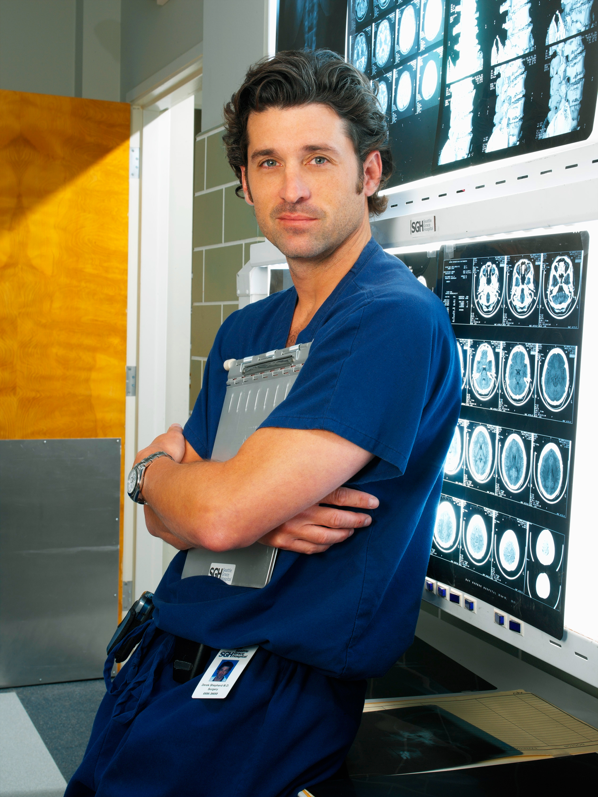 A Timeline 'Grey's Anatomy' Behind-the-Scenes Drama - News that Dempsey was leaving Grey's Anatomy leaked hours before his final episode aired in April 2015 after an Entertainment Weekly cover about his exit — his character met a tragic end — arrived a day early for many subscribers.