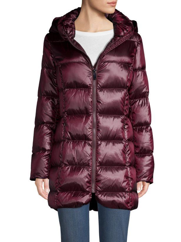 donna karan new york quilted hood down jacket