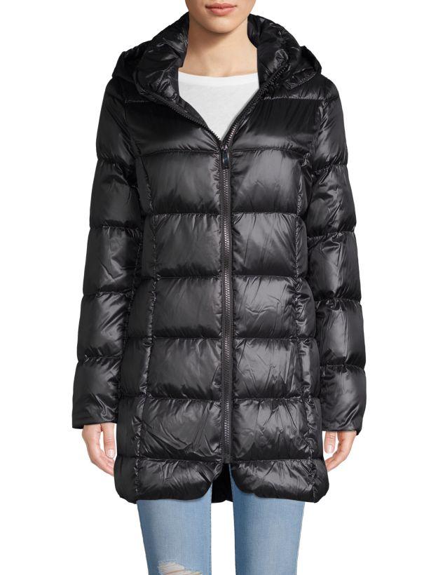 donna karan puffer coat