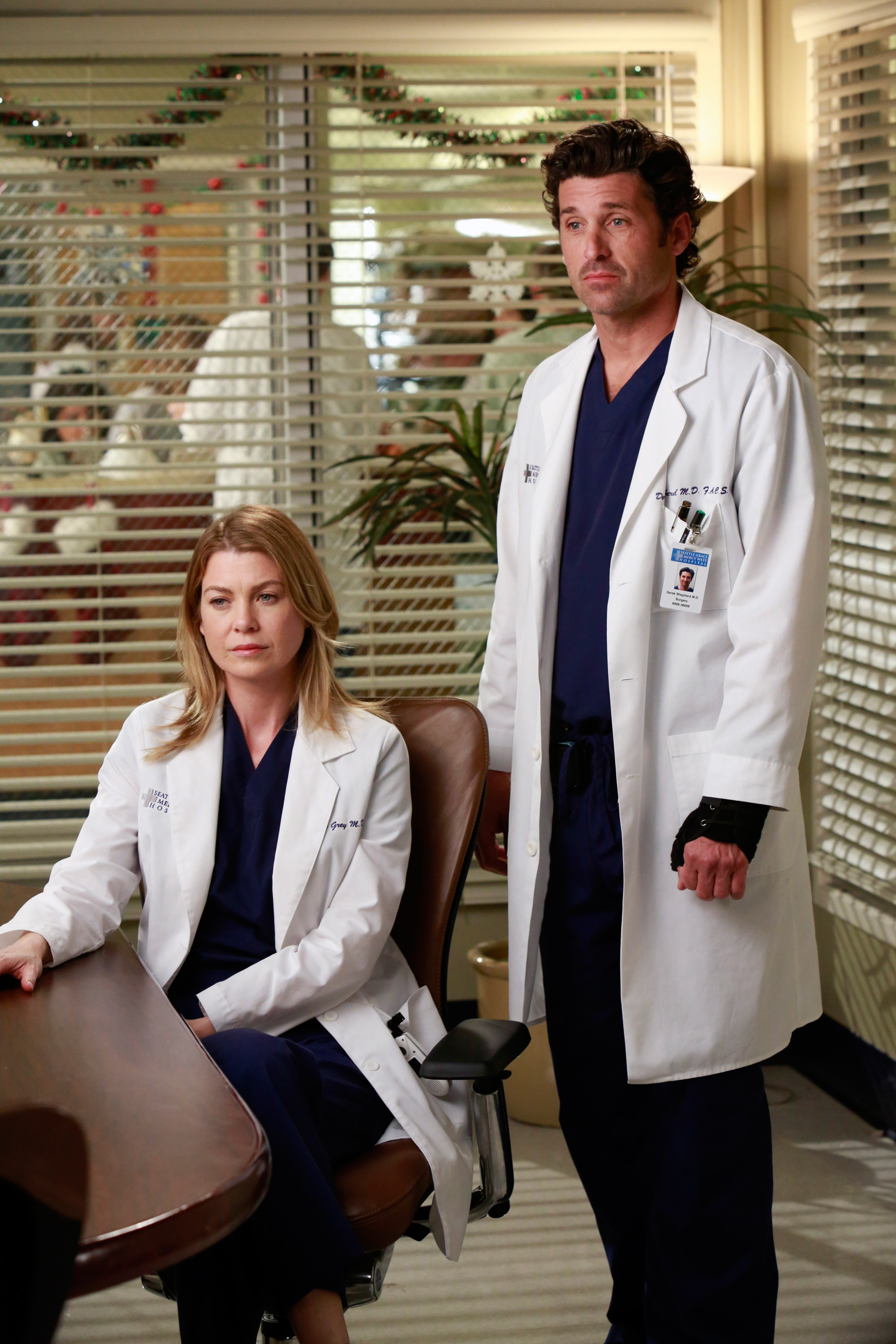 "A Timeline 'Grey's Anatomy' Behind-the-Scenes Drama - Pompeo claimed during an interview with The Hollywood Reporter in January 2018 that she reached out to Dempsey during his time on the show to negotiate their contracts together . ""For me, Patrick leaving the show [in 2015] was a defining moment, deal-wise. They could always use him as leverage against me — 'We don't need you; we have Patrick' — which they did for years. I don't know if they also did that to him, because he and I never discussed our deals,"" she told the outlet."