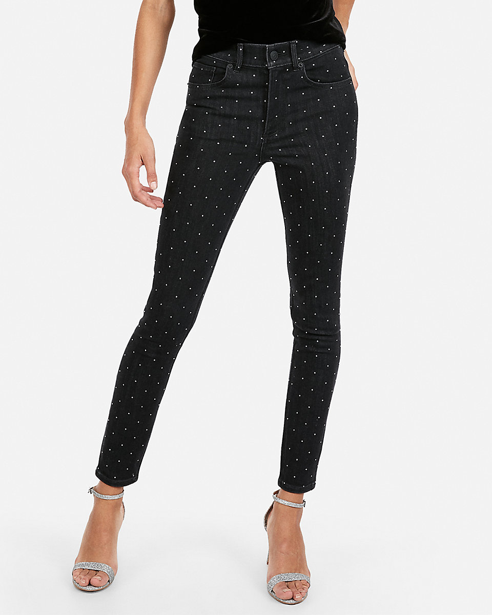 express studded stretch ankle leggings expres